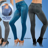 Anti-Cellulite Jeans Leggings (2 Real Pockets) - UrbanWorld.eu