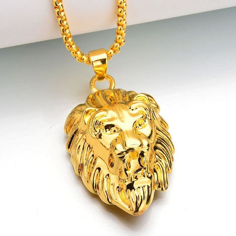 "Reggae Iced Out Hiphop Necklace ""Lion"" - UrbanWorld.eu"