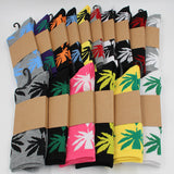 "Bright Color Streetwear Weed Socks ""Colored Weed"" - UrbanWorld.eu"