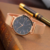 "Marble Rose Gold Quartz Watch ""Marble Master"" - UrbanWorld.eu"