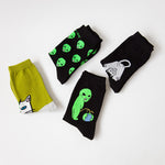 "Casual Streetwear Comic Socks  ""Alien Cat"" - UrbanWorld.eu"