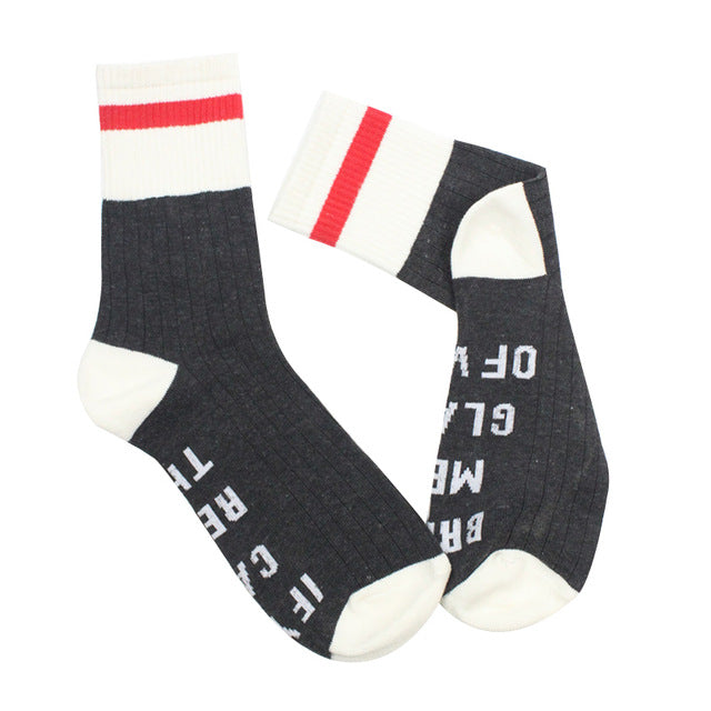 "Hip Hop Letter Socks  Women ""Fuck Off"" - UrbanWorld.eu"