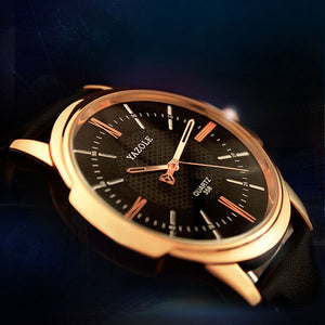 "Luxury Quartz Rose Gold Wrist Watch Men  ""Quartz"" - UrbanWorld.eu"