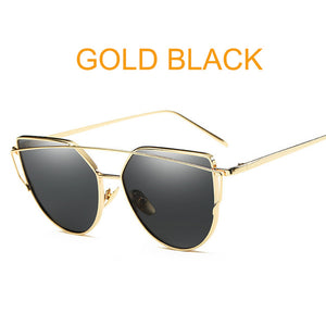 "Cat Eye Vintage Rose Gold Sunglasses ""Golden Mirror"" - UrbanWorld.eu"