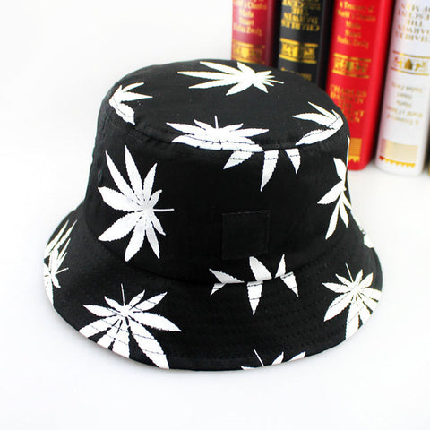 "Hip Hop Green White Leaf Print ""Weed Bucket "" - UrbanWorld.eu"