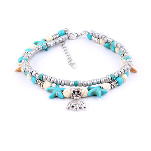 "Vintage Design Starfish Anklet ""Turtle"" - UrbanWorld.eu"