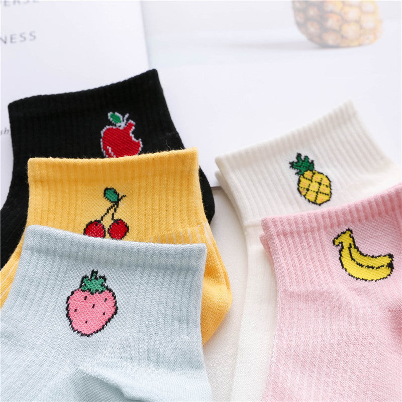 "Summer Art Fresh Fruit Cotton socks"" Cute Fruit"" - UrbanWorld.eu"