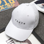 "Letter Printed Solid Cap  "" Youth"" - UrbanWorld.eu"