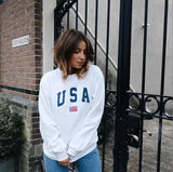 "Long Sleeve Jumper Hoodie ""USA"" - UrbanWorld.eu"