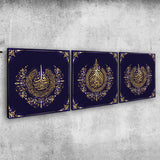 Beautiful Set of 3 islamic Wall Art canvas perfect for oriental luxury Home Decor