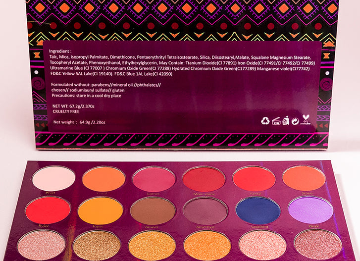 Article 1: Melanin Treasure Eyeshadow Palette by Beauty Of Colour