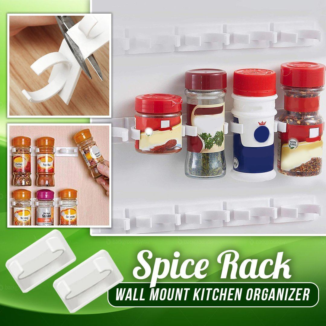 Spice Rack Wall Mount Kitchen Organizer