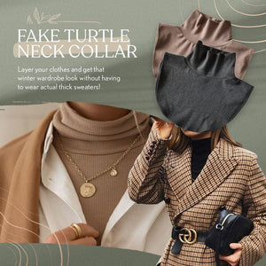 Turtleneck Wool Fake Collar