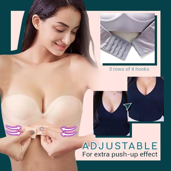 Front Buckle Push-Up Strapless Bra