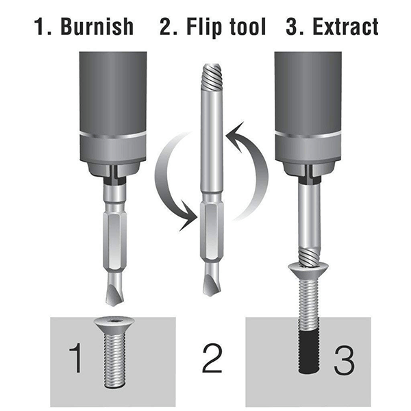 Damaged Screw Extractor (Set of 4)