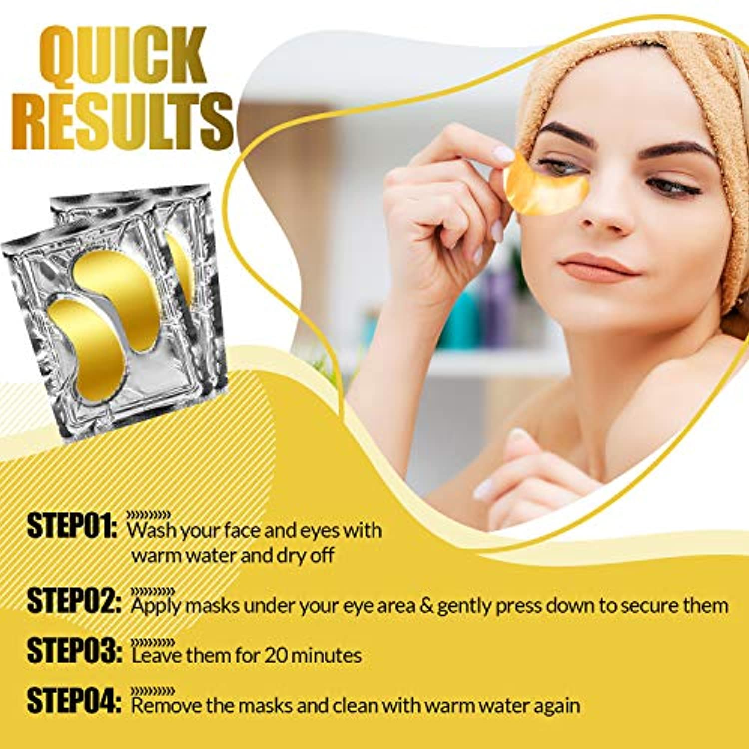 24K Gold Collagen Eye Masks (10 PCS)