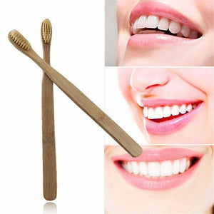 10 Pack Of Bamboo Toothbrushes