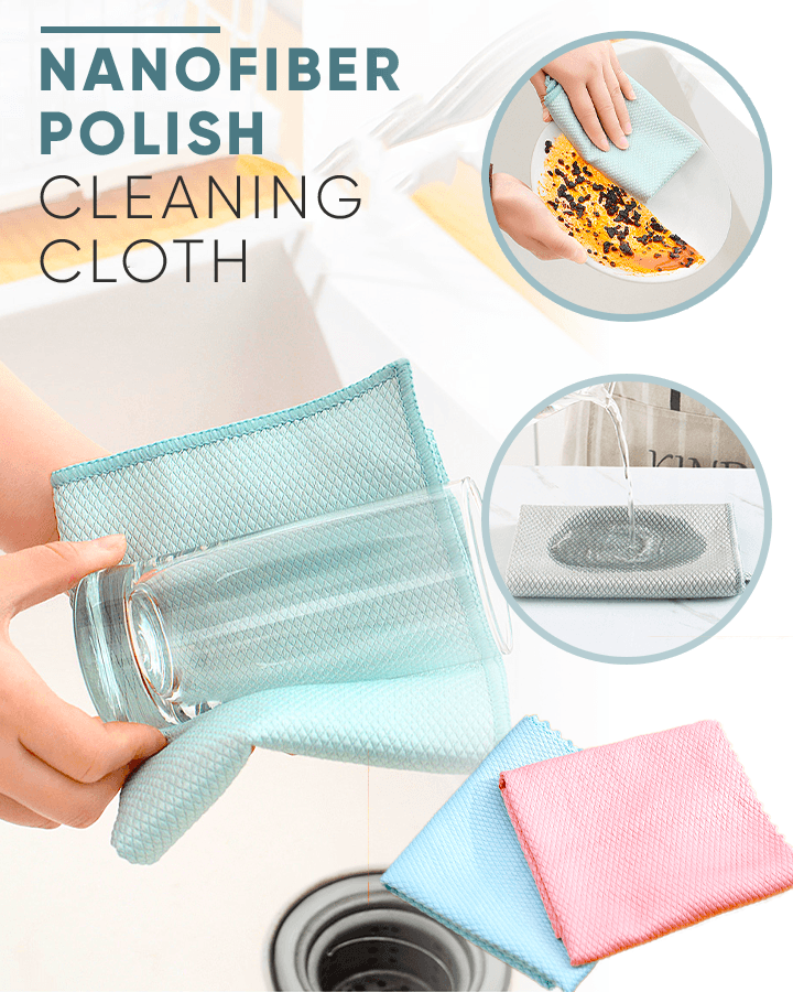 Nanofiber Polish Cleaning Cloth (2 PCS)