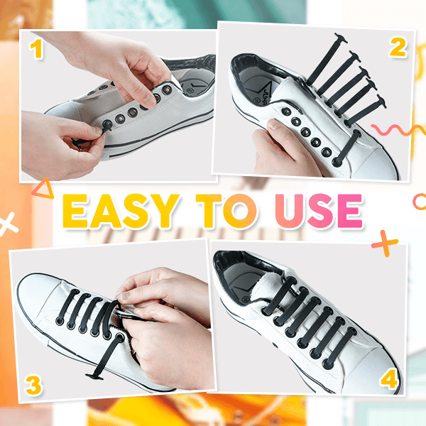 LazyLacey No-Tie Shoelaces (16 PCS)