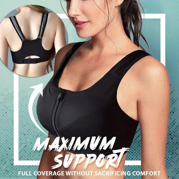 Wireless Zip Front Dynamic Sports Bra