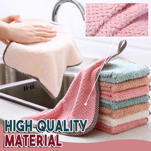Ultra-Absorbent Microfiber Dishcloths (5 PCS)