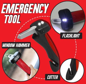 Car Cane All-in-One Auto Assist Handle with Built in LED Flashlight, Seatbelt Cutter & Window Breaker
