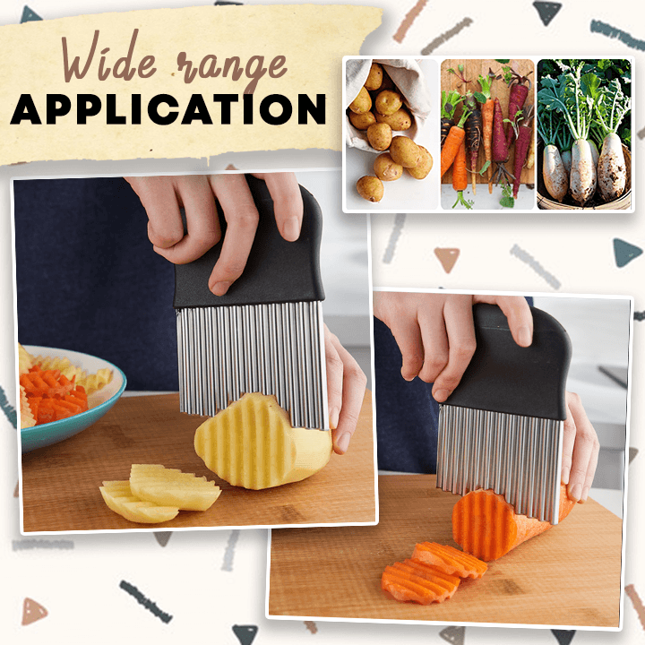 WigglyBite™ Stainless-Steel Fries Cutter