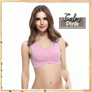 Seamless Lace Front Strap Side Buckle Bra