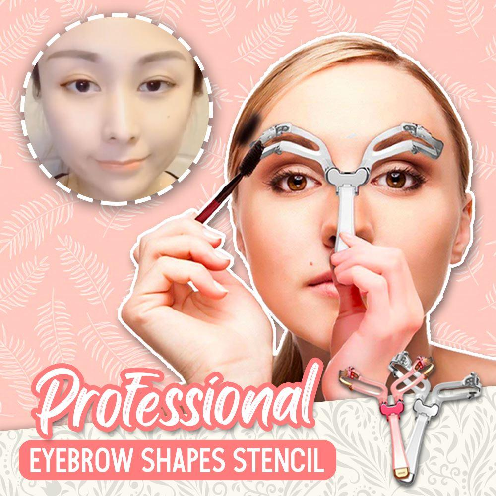 Professional Eyebrow Shapes Stencil