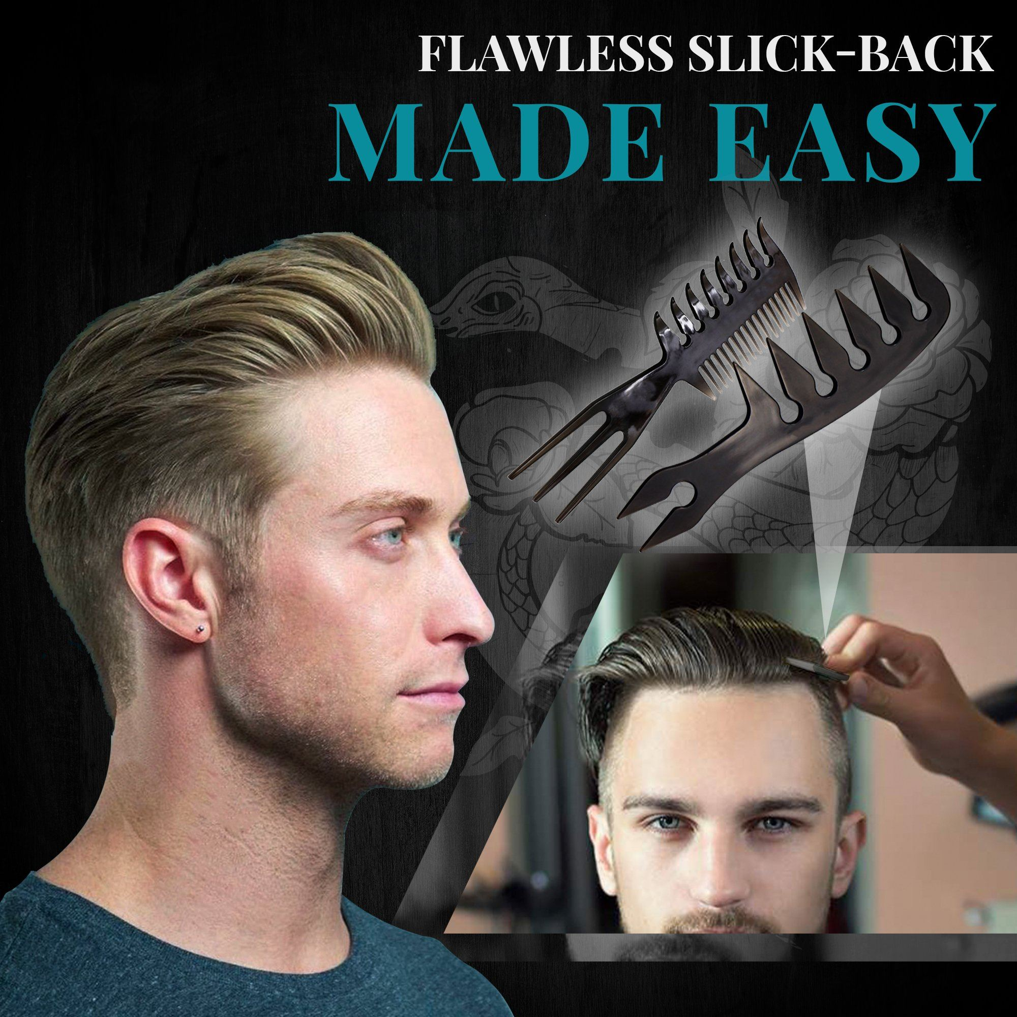 Professional Slick-back Grooming Comb