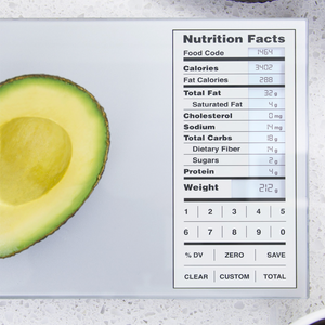 Kitchen Scale with Nutritional Data