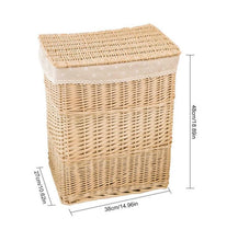 Load image into Gallery viewer, Dimensions for wicker hamper