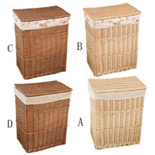 Load image into Gallery viewer, This wicker hamper comes in four different styles