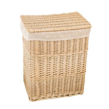 Load image into Gallery viewer, Rectangular Wicker Laundry Hamper - Annie's Baskets