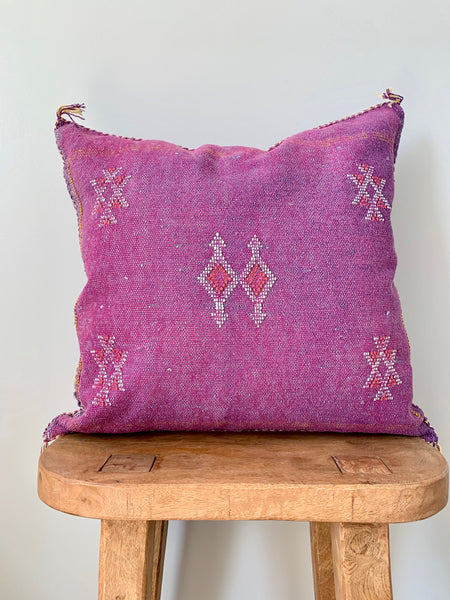 Purple Cactus Silk Pillow Cover