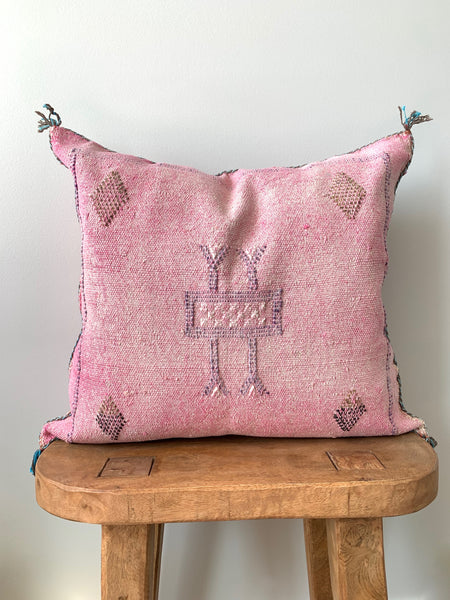 Pink Cactus Silk Pillow Cover