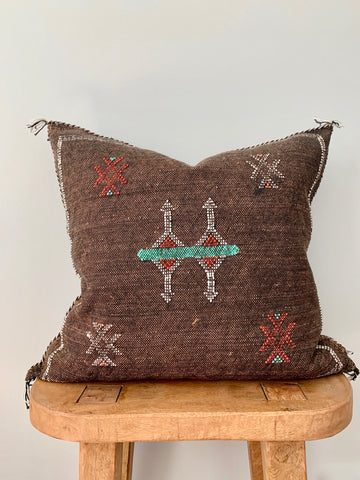 Brown Cactus Silk Pillow Cover