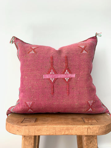 Burgundy Cactus Silk Pillow Cover