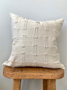 Cream Mini Tassel Pillow Cover