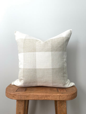Cream Buffalo Check Pillow Cover
