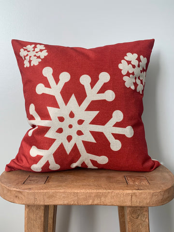 Three Snowflake Pillow Cover