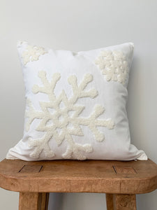 White Snowflake Pillow Cover