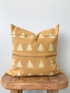 Mustard Mudcloth Pillow Cover