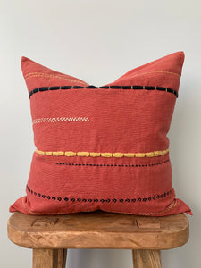 Orange Mixed Stitch Pillow Cover