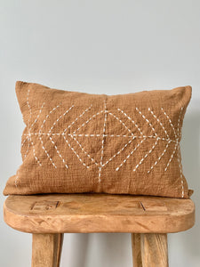 Burnt Stitch Lumbar Pillow Cover