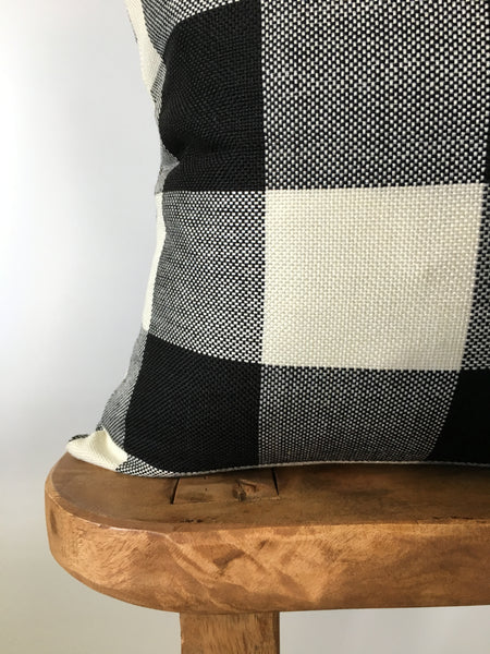 Black Buffalo Check Pillow Cover