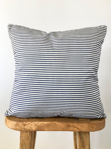 Blue Denim Stripe Pillow Cover