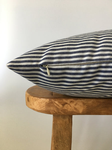 Denim Thin Stripe Pillow Cover