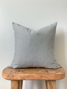 Charcoal Stripe Pillow Cover