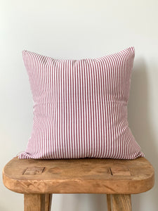 Red Denim Stripe Pillow Cover